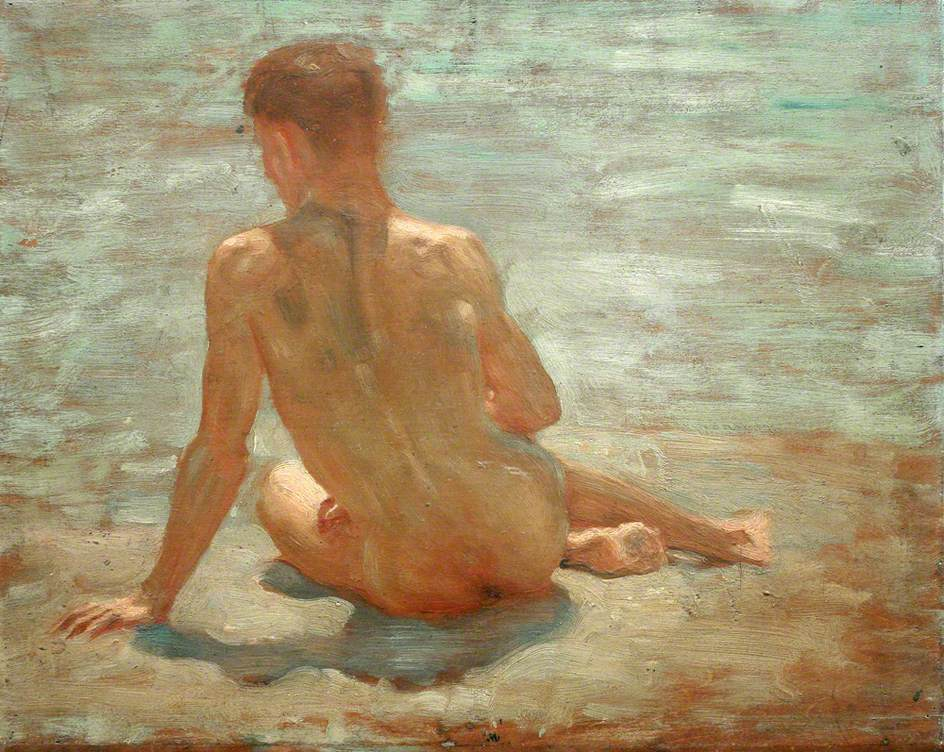 Sketch of a Nude Youth