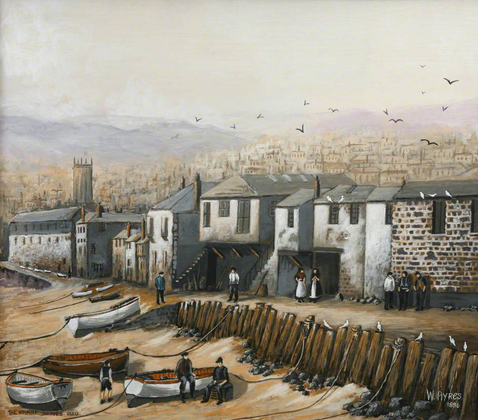 The Wharf, St Ives, 1880