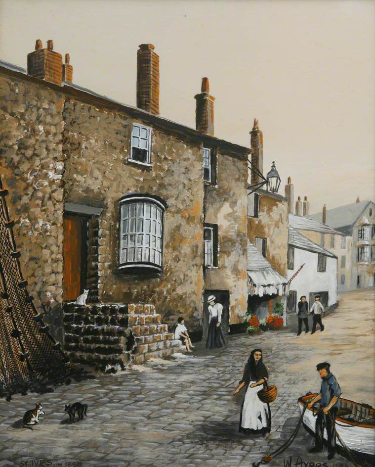St Ives Harbour Front, 1880