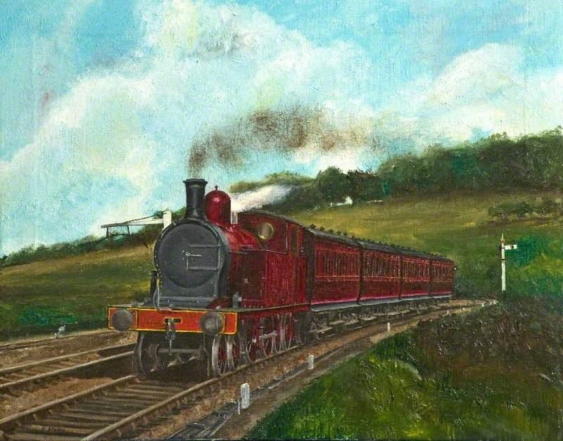 Midland & South Western Junction Railway 4–4–4T Locomotive, Approaching Marlborough, Wiltshire, c.1910