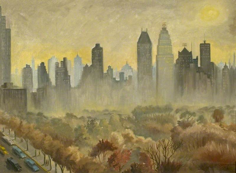 Over Central Park, New York, Evening