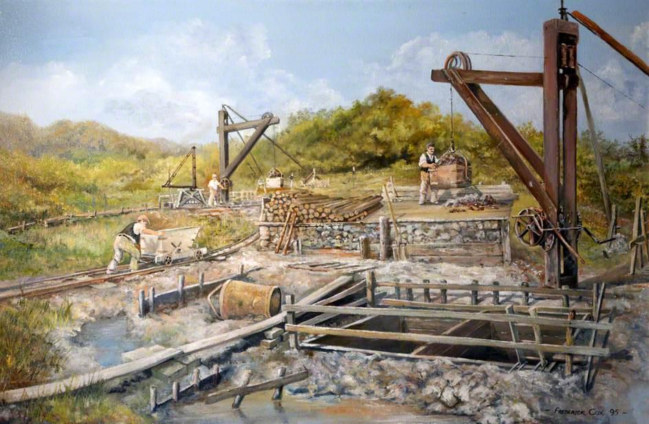 Ball Clay Mining, Kingsteignton, Devon