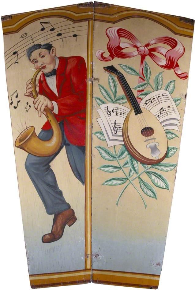 Scott's 'Wonder Waltzers': Saxophone Player and Mandolin