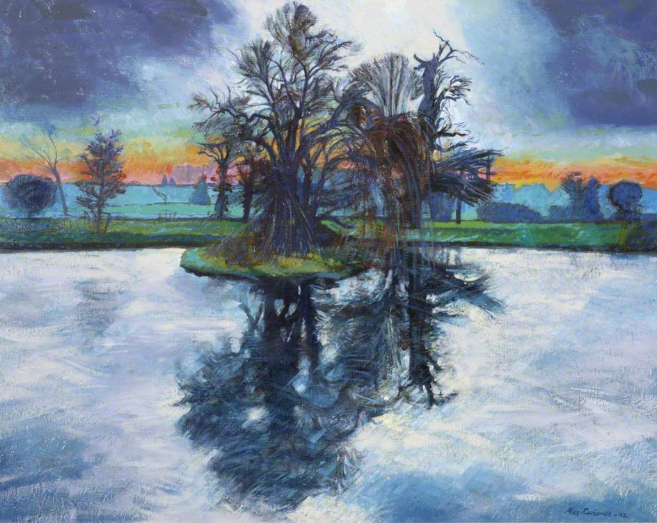 Winter Afternoon, the Lake at Killerton House, Devon