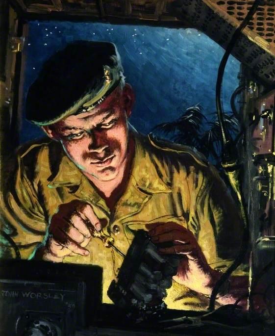 Royal Signals Technician Repairing a Radio
