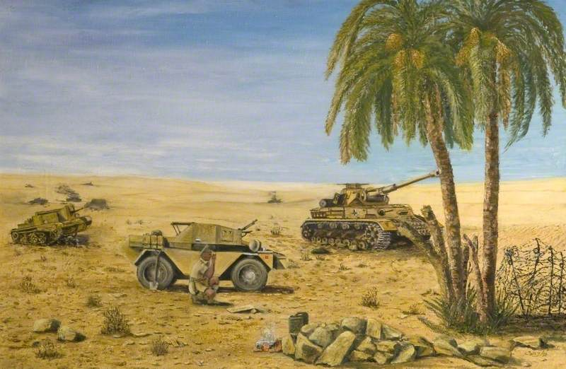Bearing from Bir Hacheim, Libya, 1942