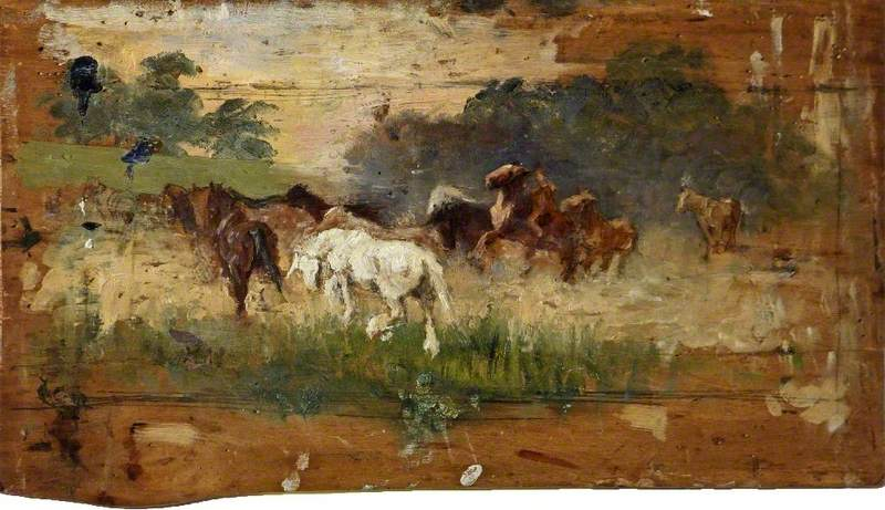 Study for 'Gypsy Horse Drovers'