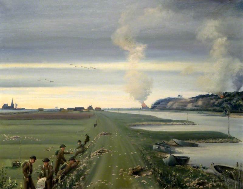 The 1st Battalion of the Dorsetshire Regiment Crossing the Rhine at Arnhem, Holland, 26 September 1944