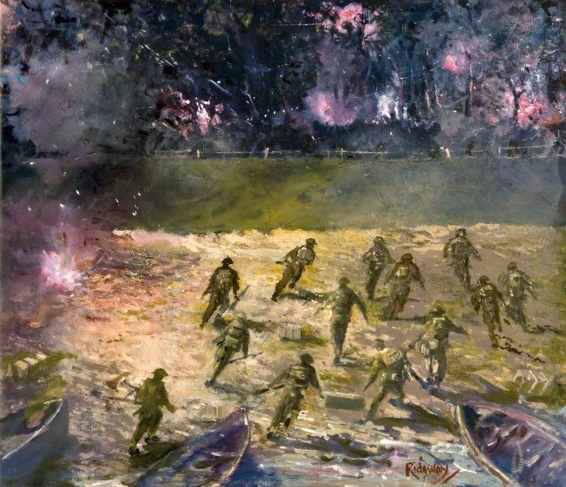 Assault across the Neder Rhine near Arnhem, Holland, by 4th Battalion, Dorset Regiment, 26 September 1944