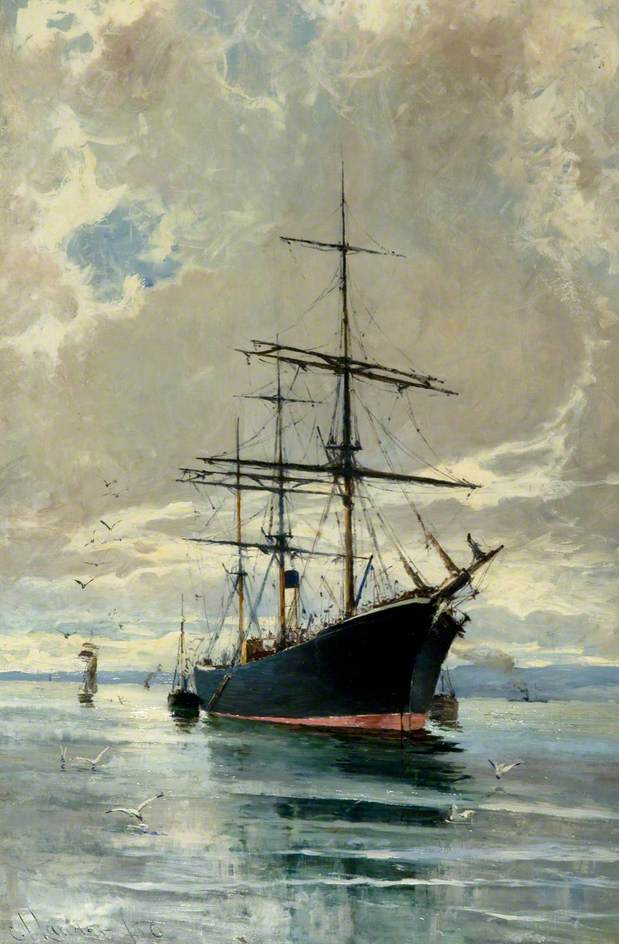 At Anchor (The Dundee Whaling Vessel 'Balaena')