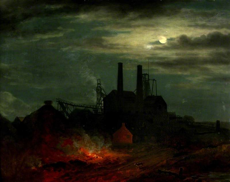 Colliery by Moonlight