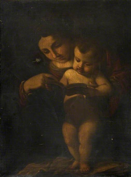 Mother and Child Reading from a Book