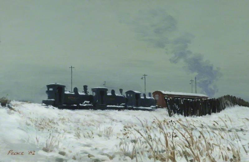 Colliery Engines in the Snow