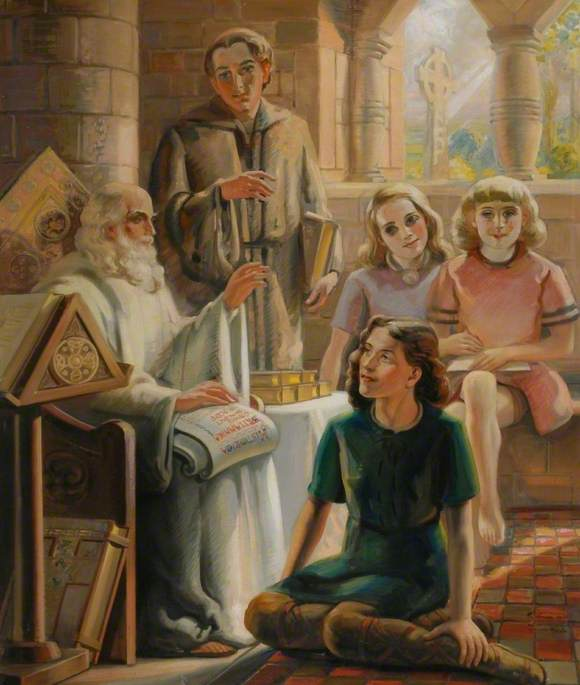 The Venerable Bede Teaching at Jarrow
