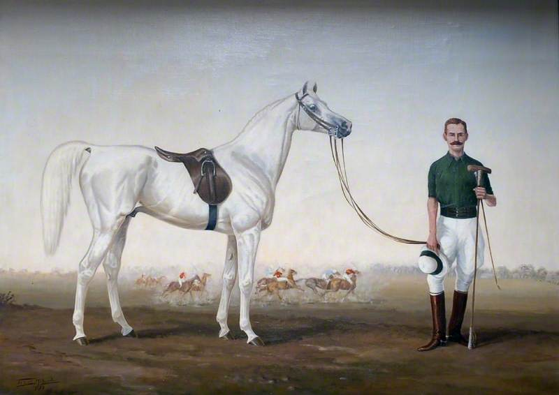 Captain Henry de Beauvoir de Lisle (1864–1955) and His Pony, 'Snowy', c.1900