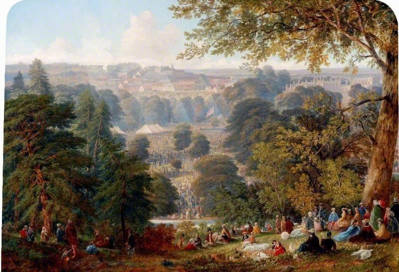 Flower Show in Auckland Park, County Durham, 1859