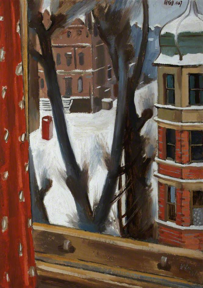 London Street in Snow