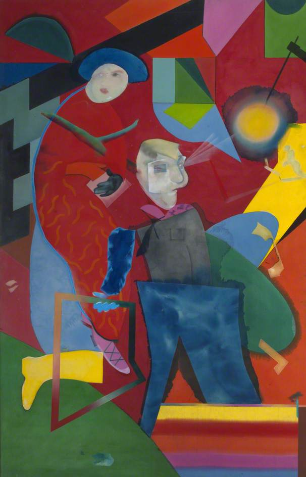 Two Red Abstract People