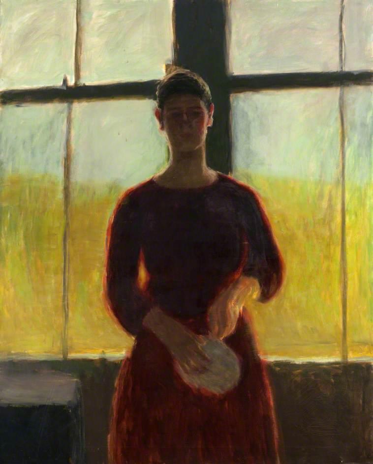 Self Portrait against Window