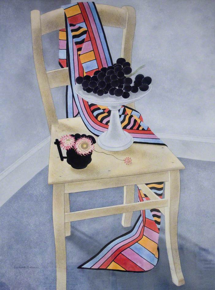 Still life, Chair and Grapes