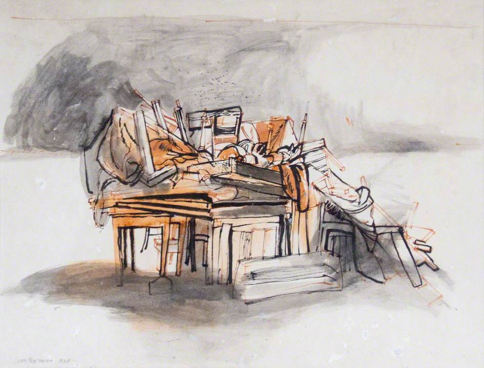 Study for 'House Contents'
