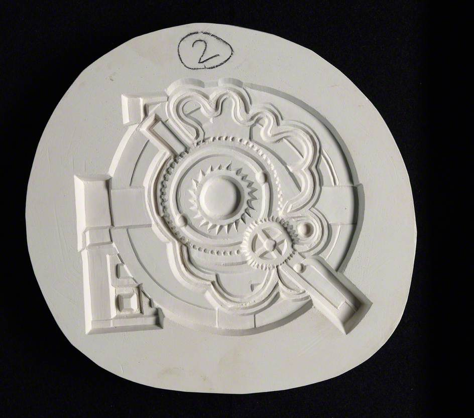 Abstract Sculpture Featuring a Centre Escapement Wheel with Teeth