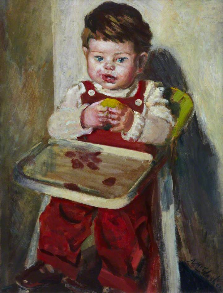 Child with an Apple