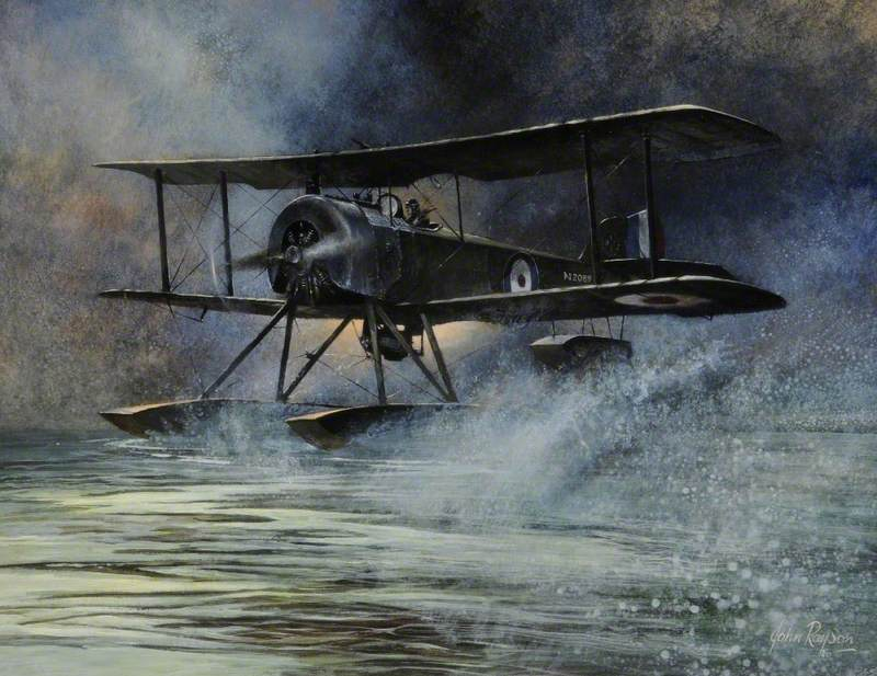 Bad Weather Landing (A Sopwith Baby on Hornsea Mere)