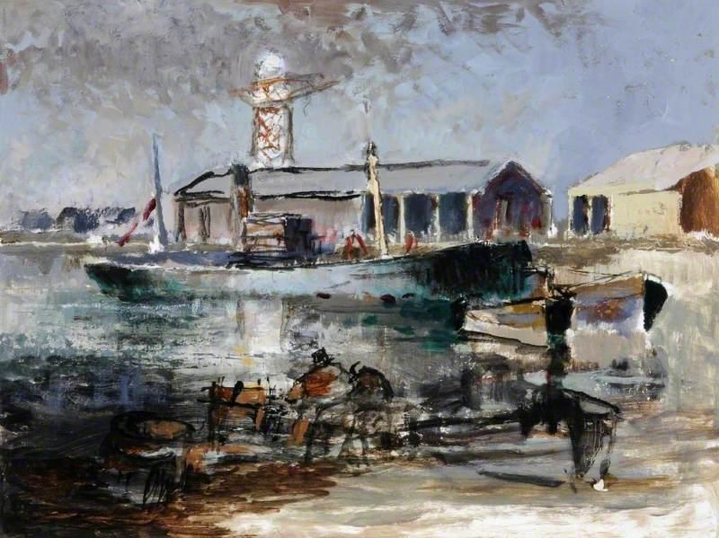 Tug in a Dock