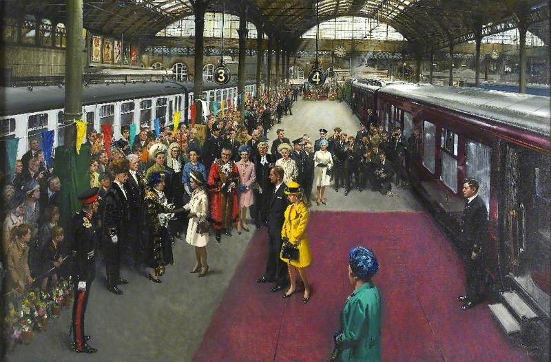 The Surrender of the Sword of State to HM Queen Elizabeth II on Her Arrival at Kingston upon Hull on 4 August 1969