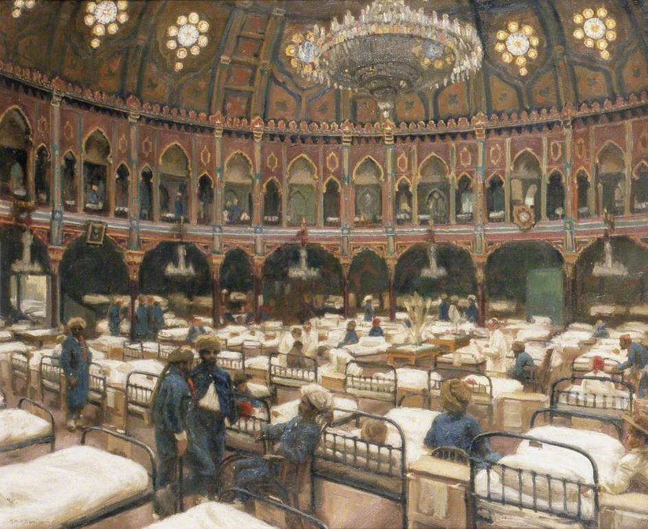 The Dome of the Royal Pavilion as a Hospital for Indian Soldiers