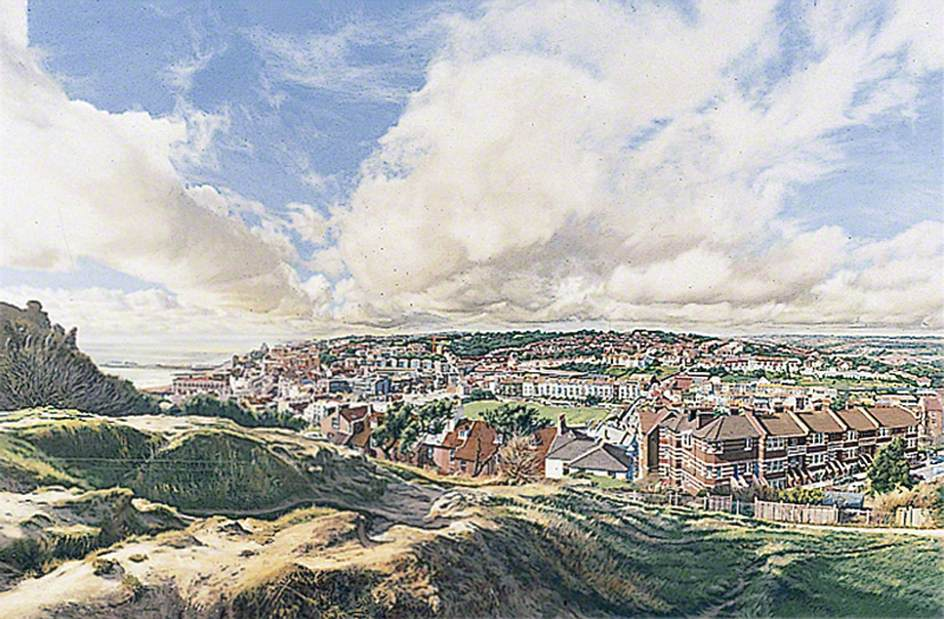 Hastings, East Sussex, from the Castle Mound