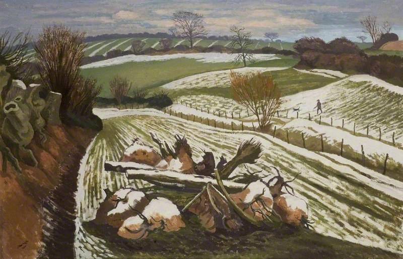 Melting Snow at Wormingford
