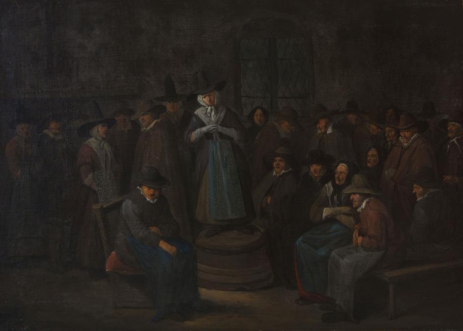 A Woman Addressing a Prayer Meeting