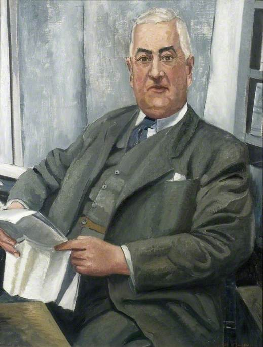 Portrait of a Man Reading a Paper