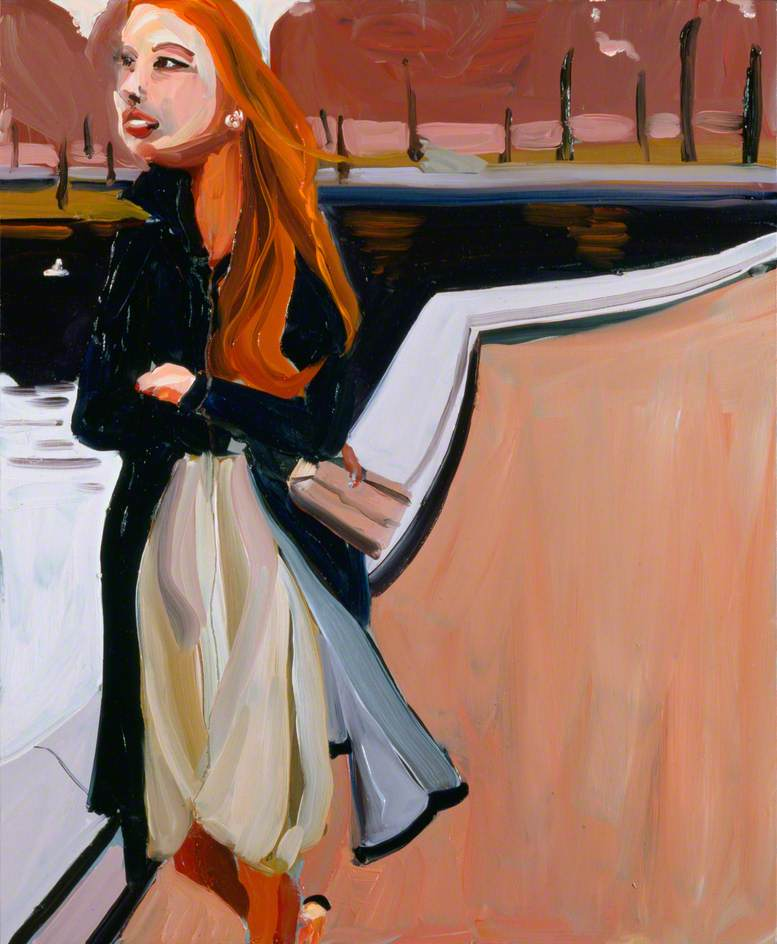 Red Haired Woman in the Park