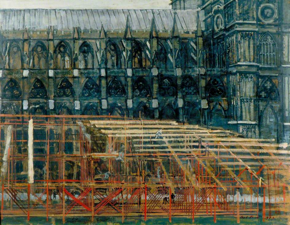 Constructing Stands Outside Westminster Abbey, June 1953