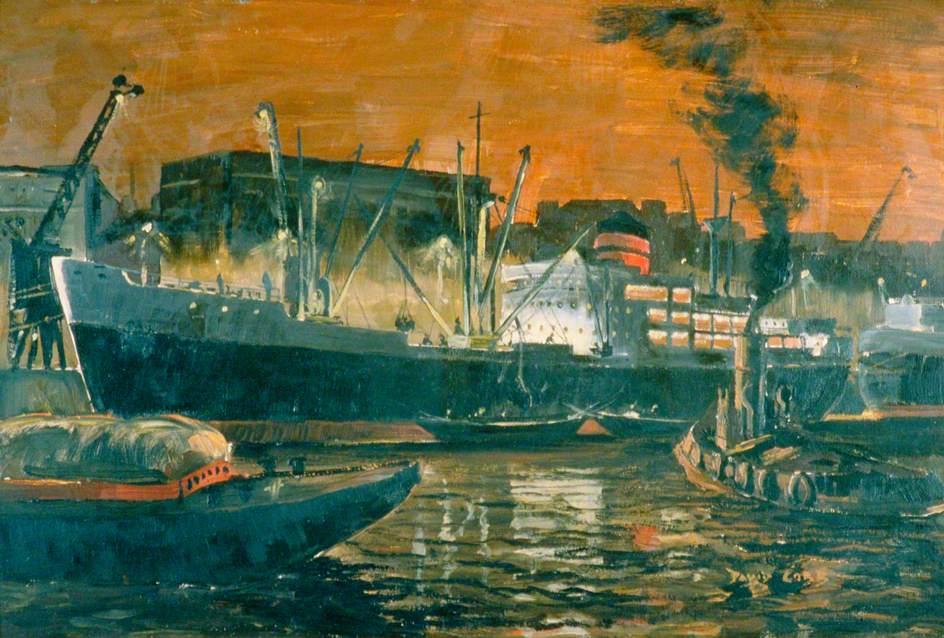Night in the Docks