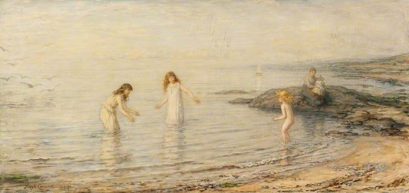The Timid Bather