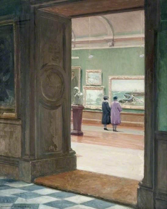 Interior of Glasgow Corporation Art Galleries