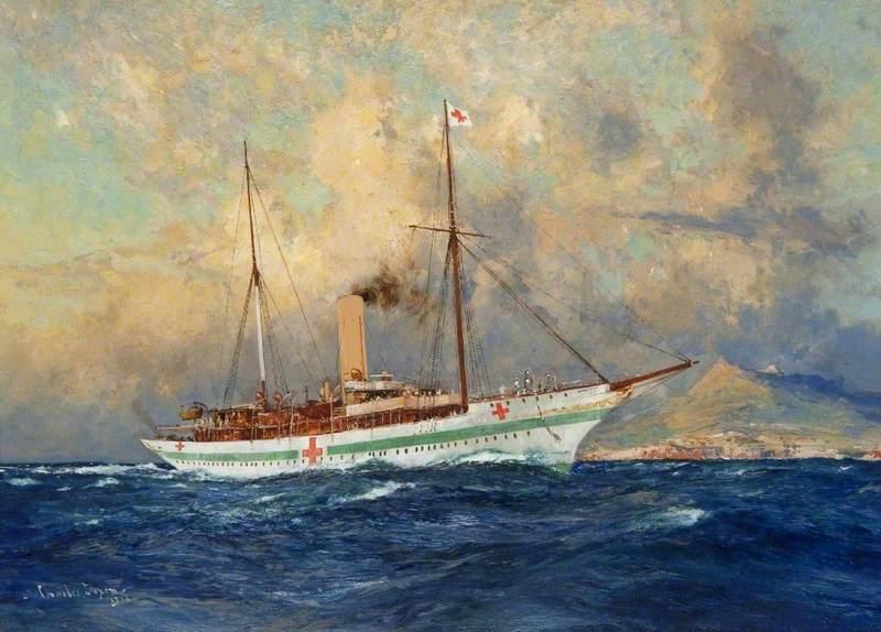 SY 'Erin' as a Hospital Ship