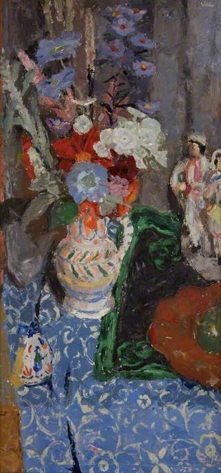 Still Life, Flowers and Figures