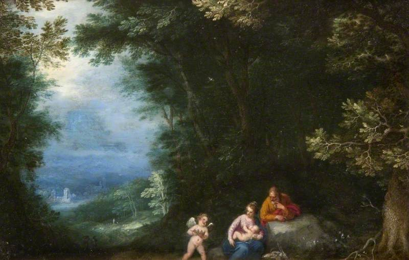 A Wooded Landscape with the Rest on the Flight into Egypt