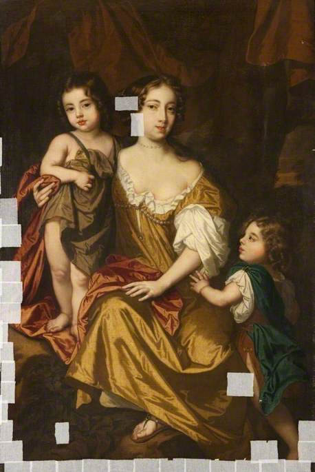 Nell Gwynn (1650–1687), and Her Two Children