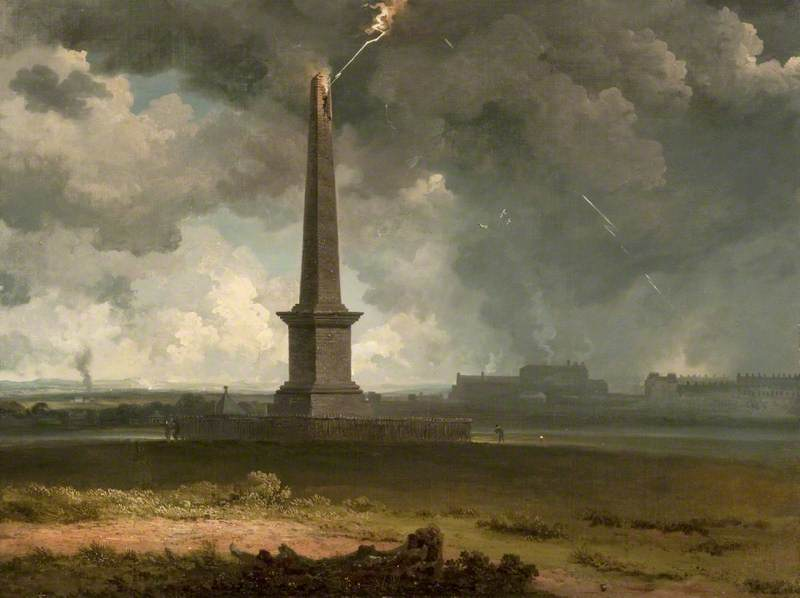 The Nelson Monument on Glasgow Green Struck by Lightning