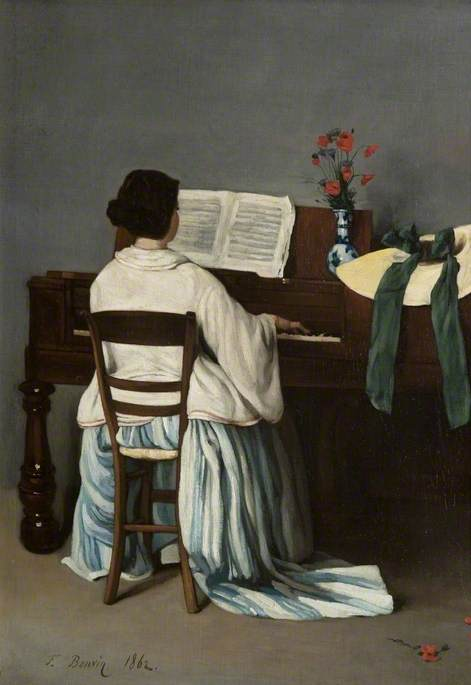 Woman at a Spinet