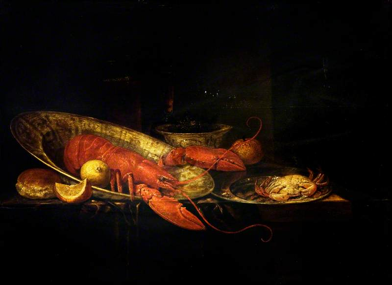 Still Life: Lobster, Fruit and Glasses