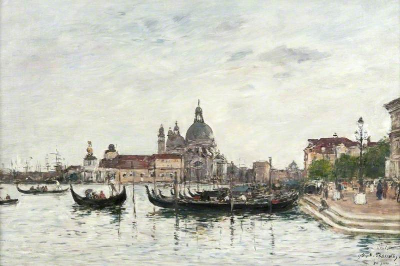 Venice: Santa Maria della Salute and the Dogana Seen from across the Grand Canal