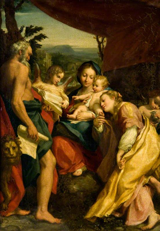 Madonna with Saint Jerome