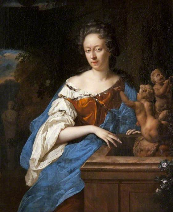 Portrait of a Lady by a Fountain